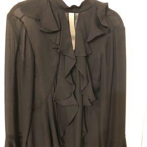 NWT..Gorgeous black silk top